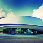 Kulturno središče evropskih vesoljskih tehnologij (KSEVT) Centre culturel des technologies spatiales européennes dans le village slovène de Vitanje