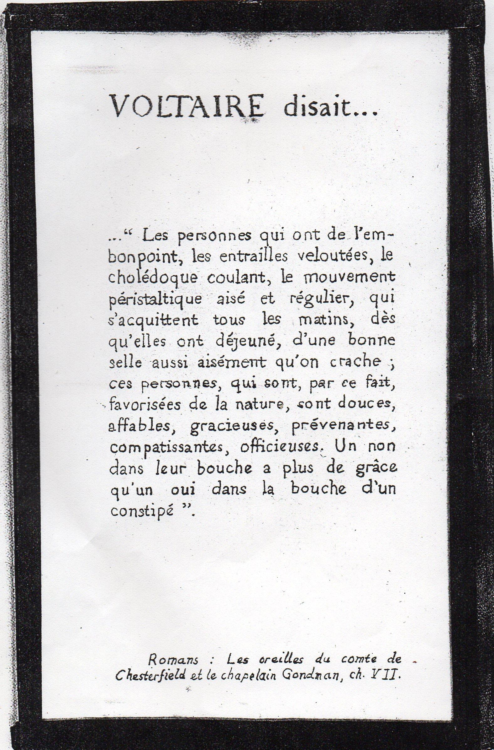 Voltaire disait..085