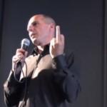 Les doigts d'honneur de Varoufakis et de Poutine (Reporters sans frontières)