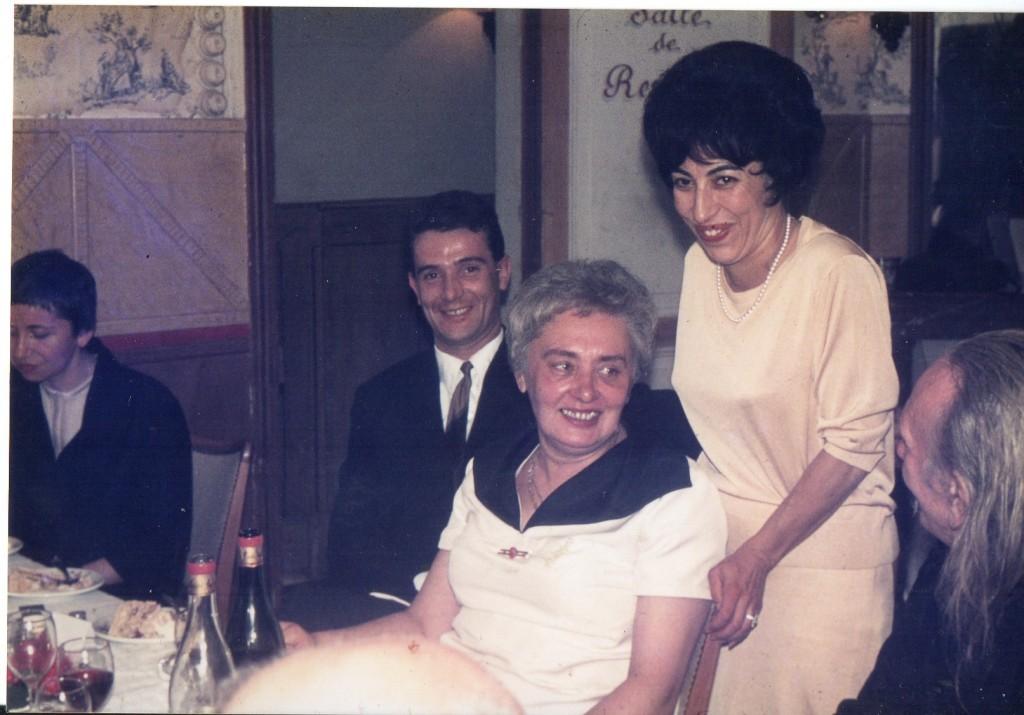 Amie serbe, Serge Morin, Lialia (Valentine Marcadé), Lucette Vidal, Moine Grégoire