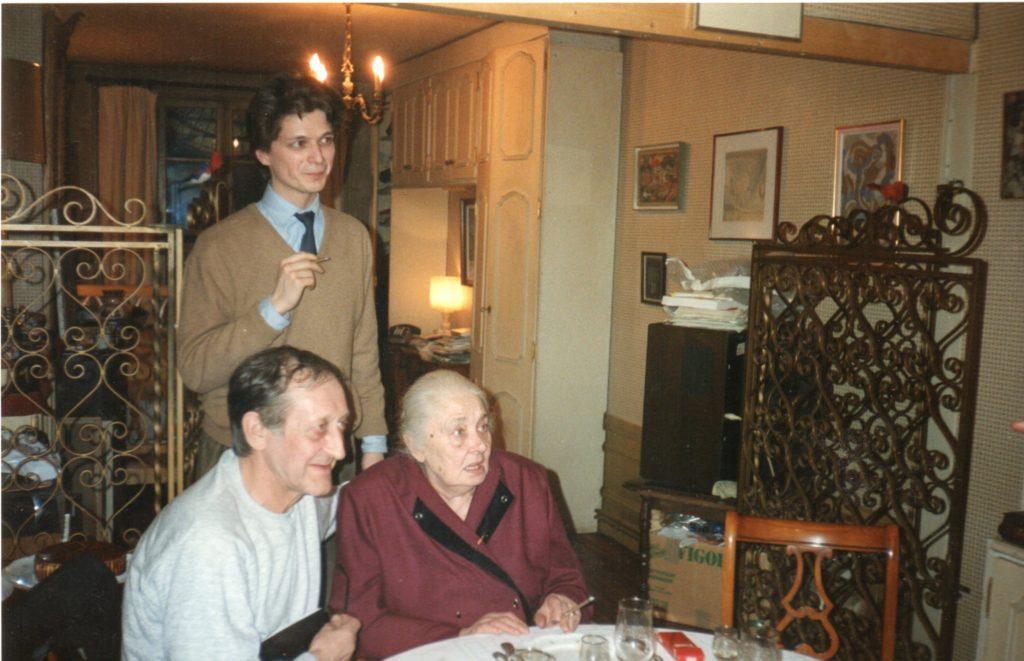 Kovtoune, Alexis Tiesenhausen, Valentine Marcadé, Paris, 36 rue Saint-Sulpice, février 1989 (photo Jean-Claude Marcadé)