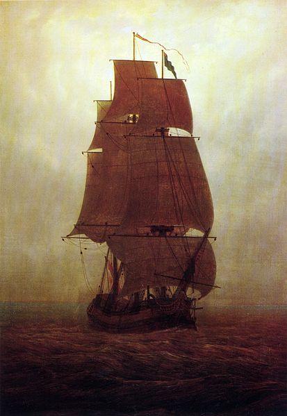 413px-Caspar_David_Friedrich_-_Segelschiff