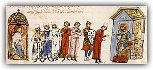 300px-Nicephorus_sends_an_epistle_to_emperor_Michael_II_in_favour_of_the_icons_restoration_Chronikon_of_Ioannis_Skylitzes
