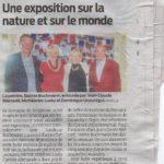 Sur l'exposition de Sabine Buchmann au Domaine de Sangresse à Souprosse (Landes)