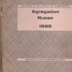 Correction des compositions françaises à l'agrégation de russe de 1969
