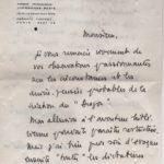 """Lettre de Bertrand Poirot-Delpech à Jean-Claude Marcadé en 1966 sur """"Le Dragon"""" d'Evguéni Schwarz"""